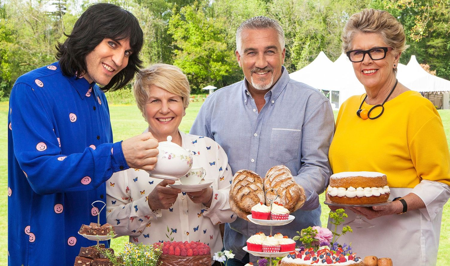 Great British Bake Off hosts