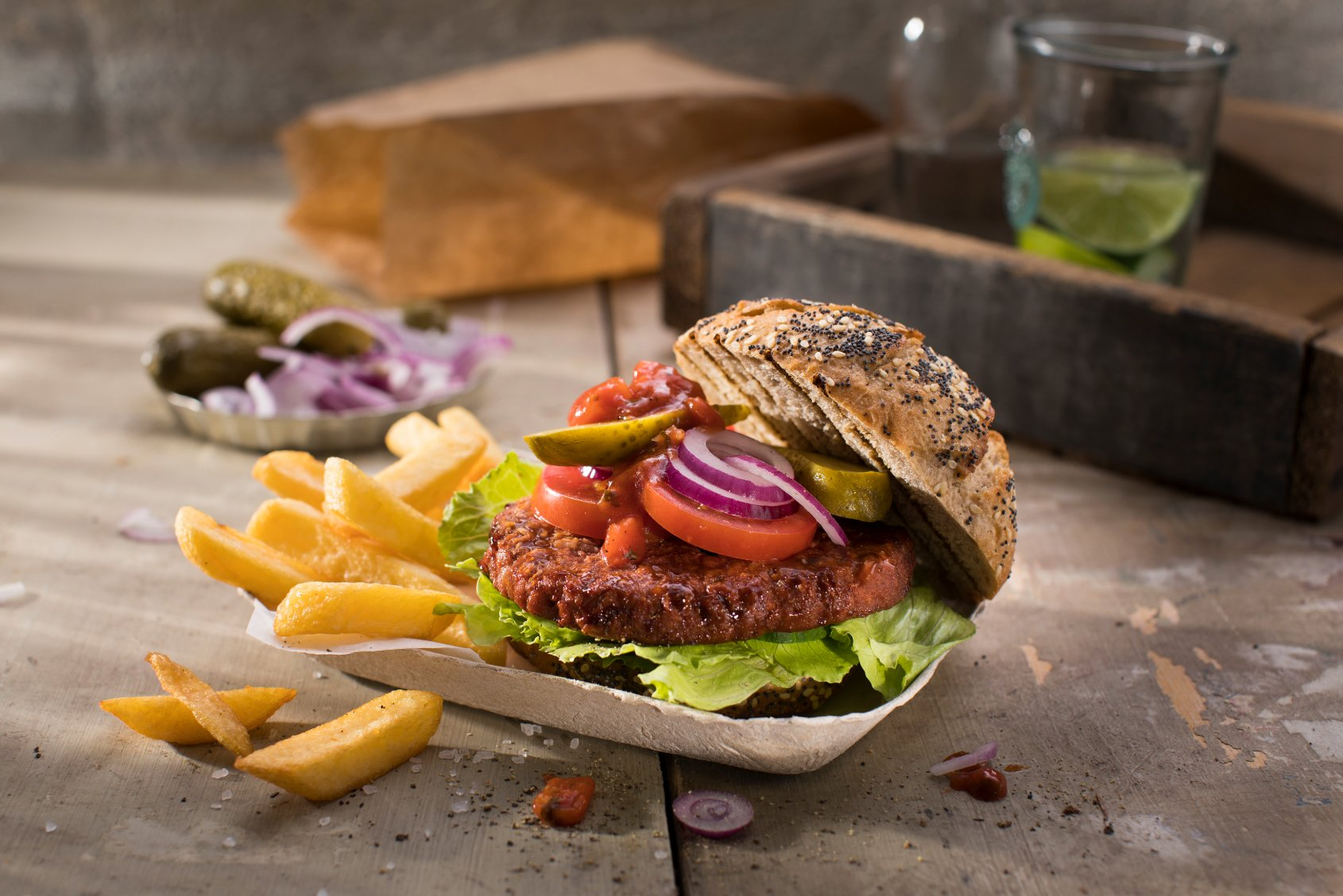 Vegan Aberdeen Angus burger from Vivera