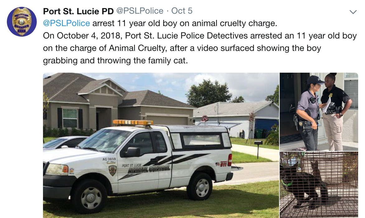 Police Department Animal Cruelty Post