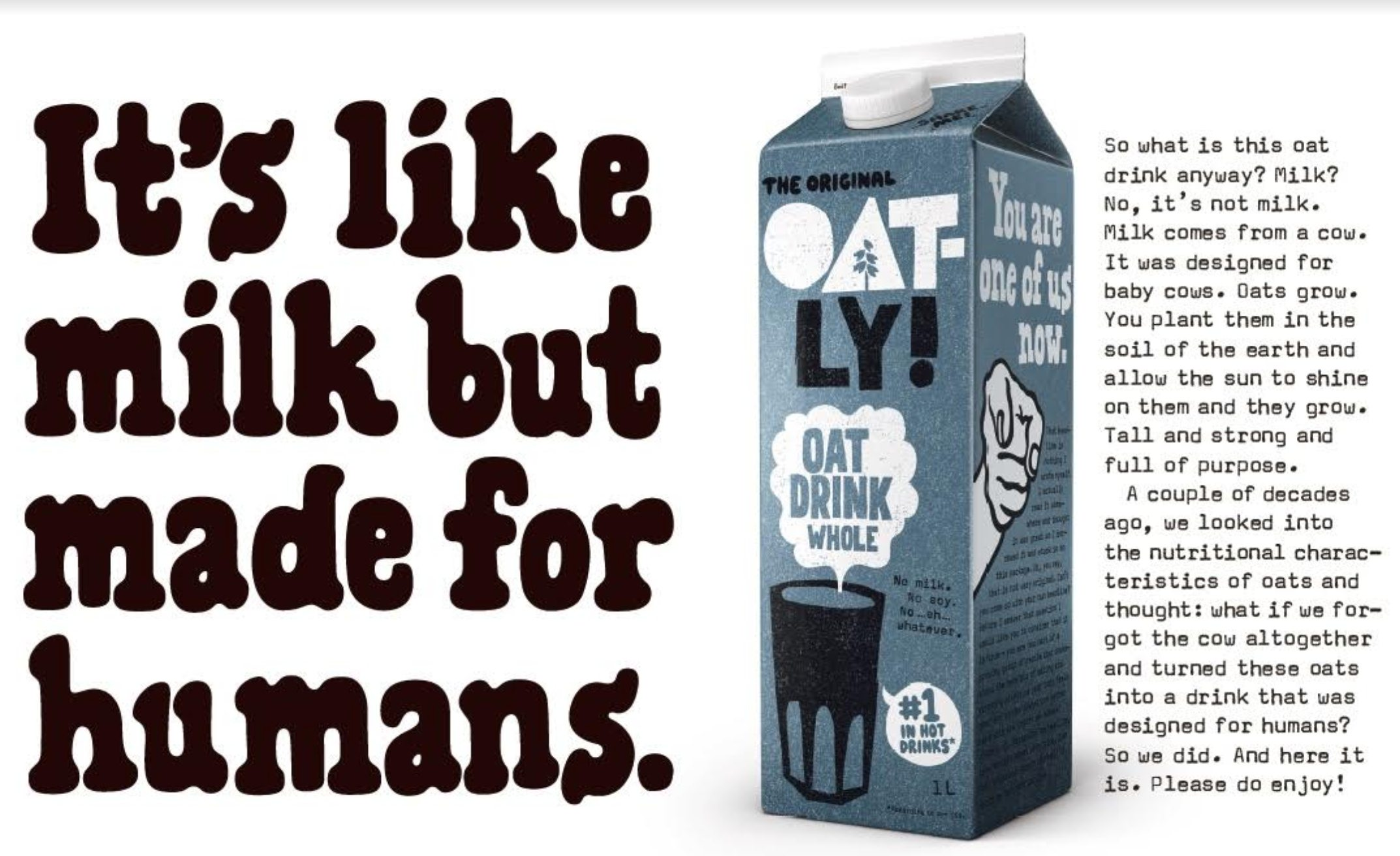 Oatly vegan milk poster