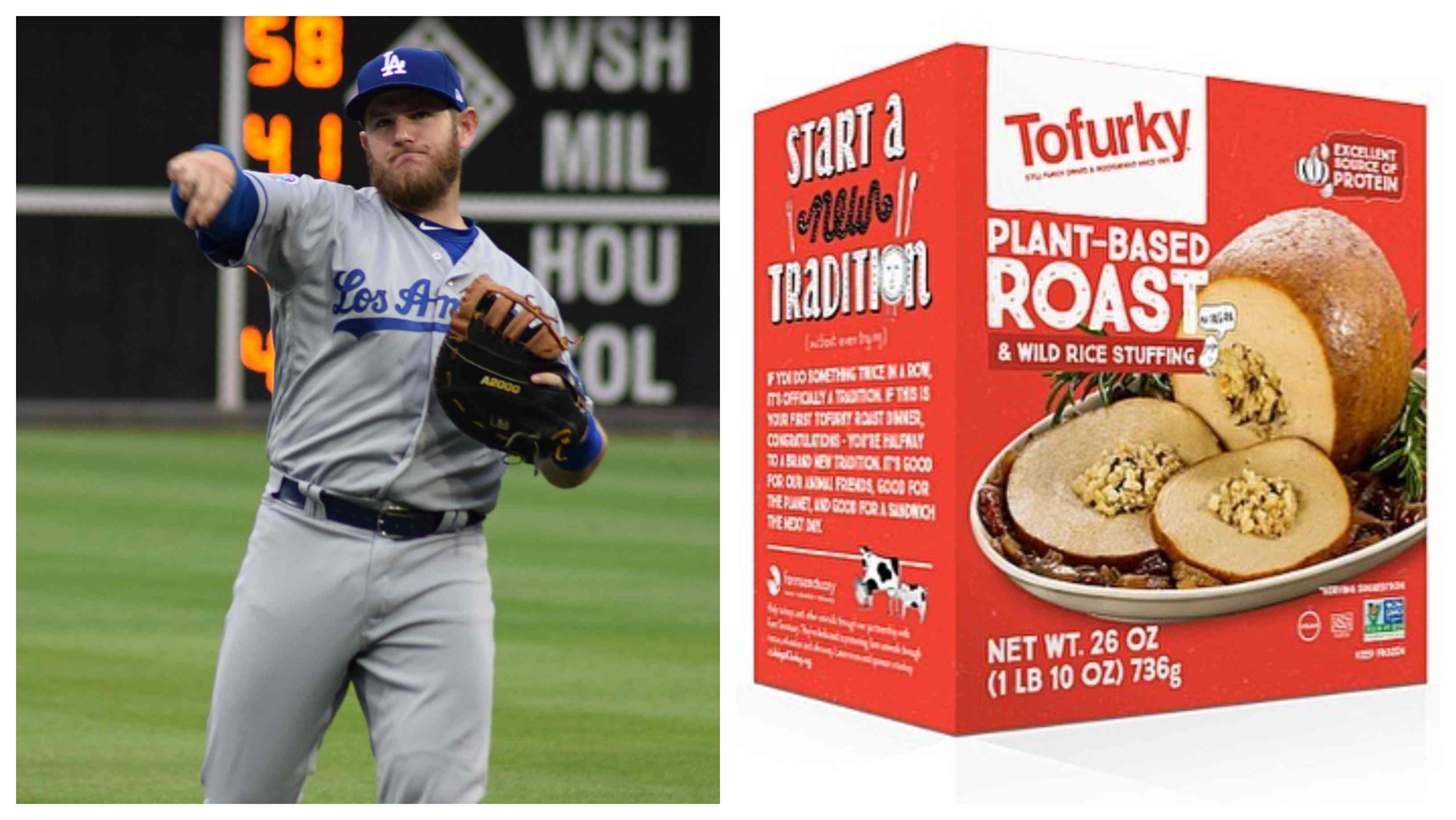 La Dodgers and vegan Tofurky