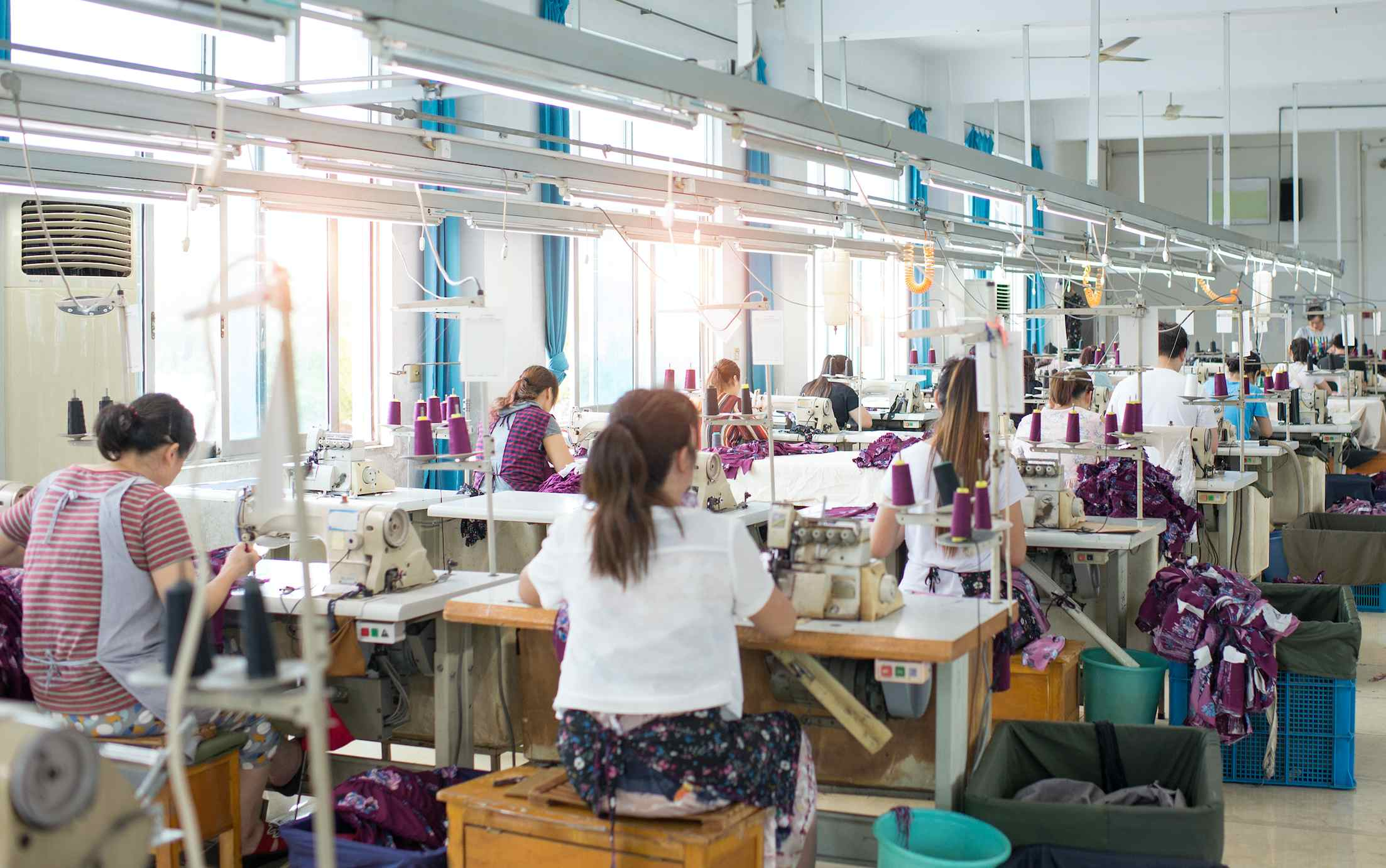 Workers making clothes