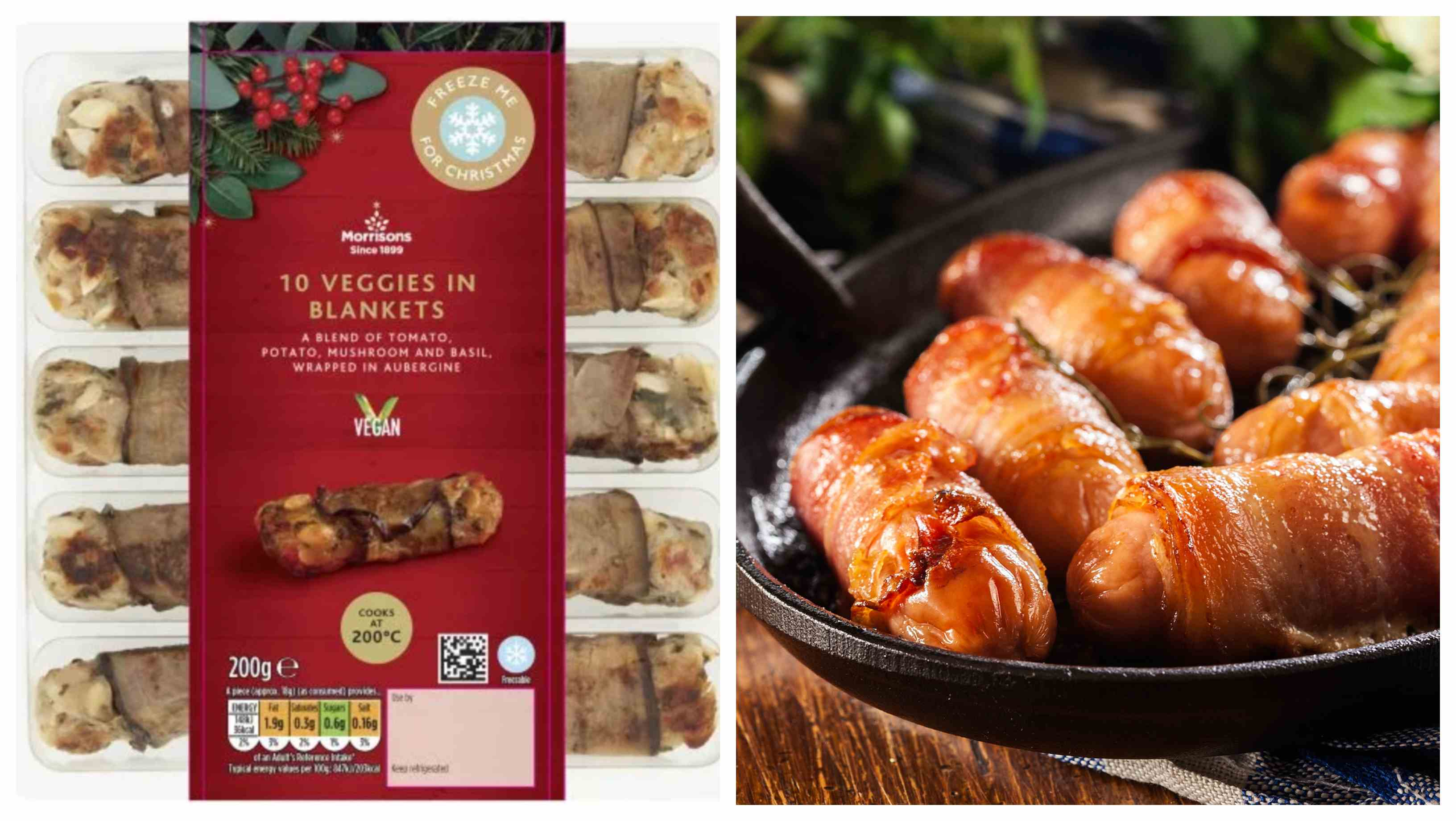 Vegan pigs in blankets from Morrisons