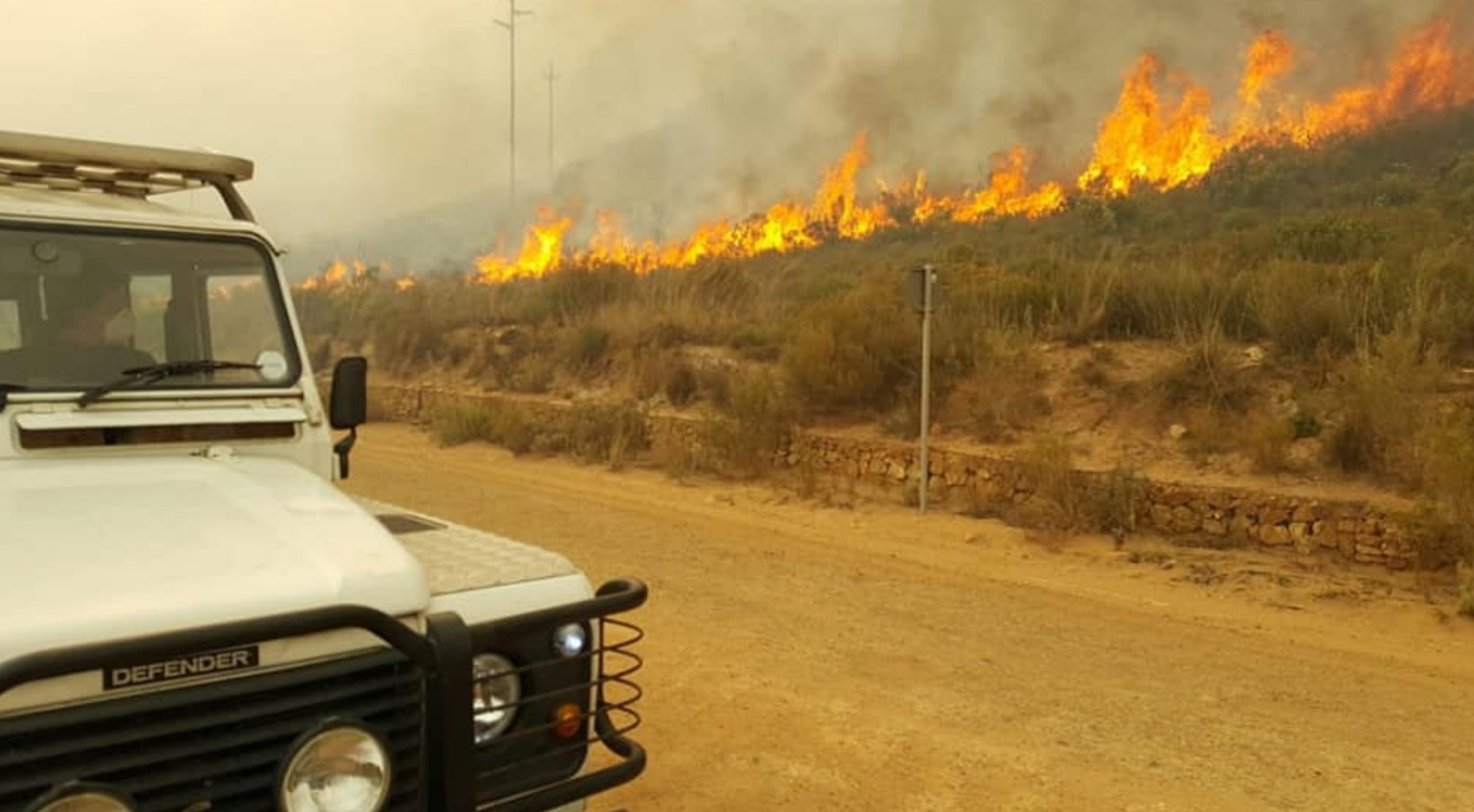 Fire in South Africa
