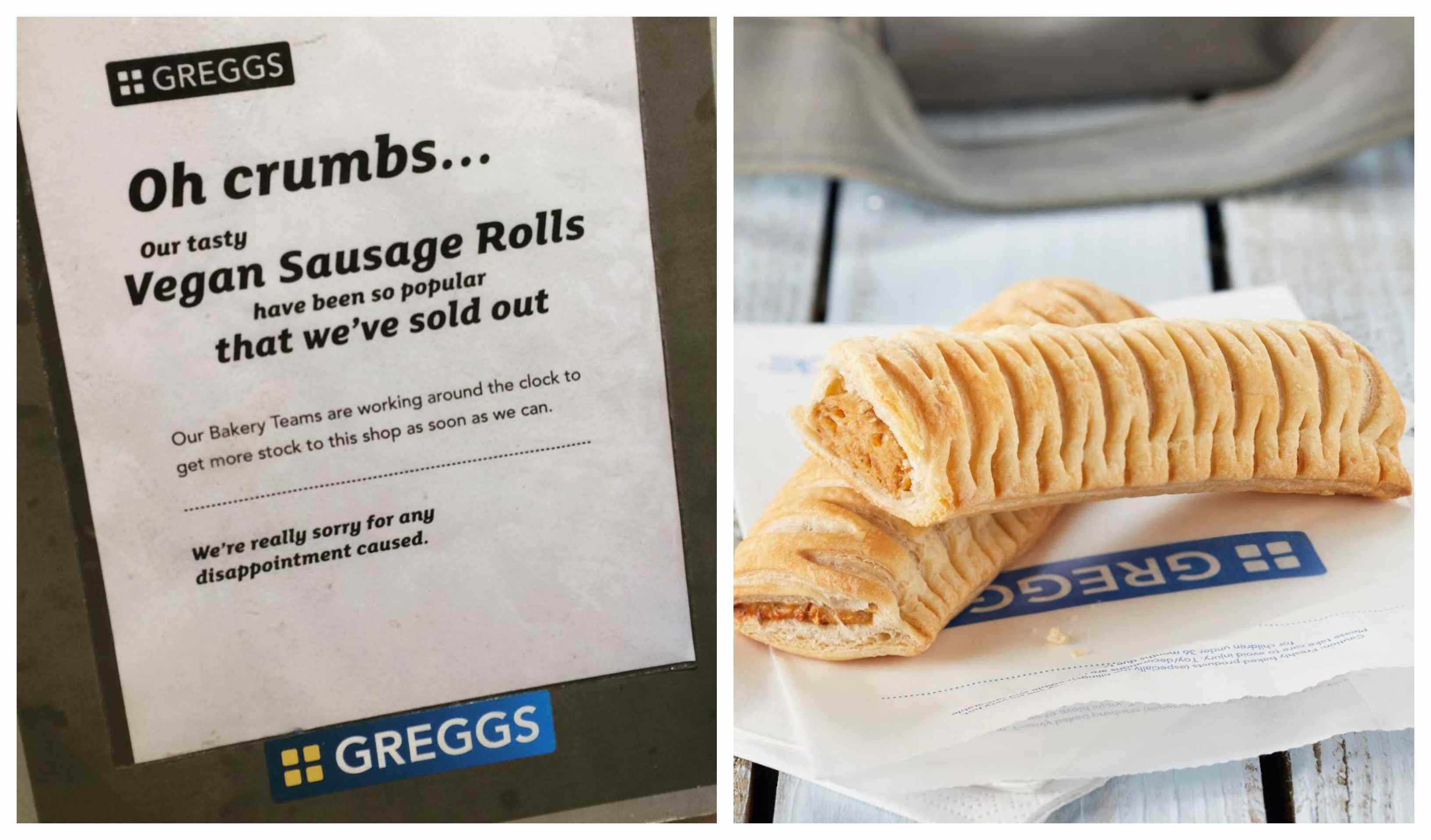 Greggs vegan sausage roll sold out