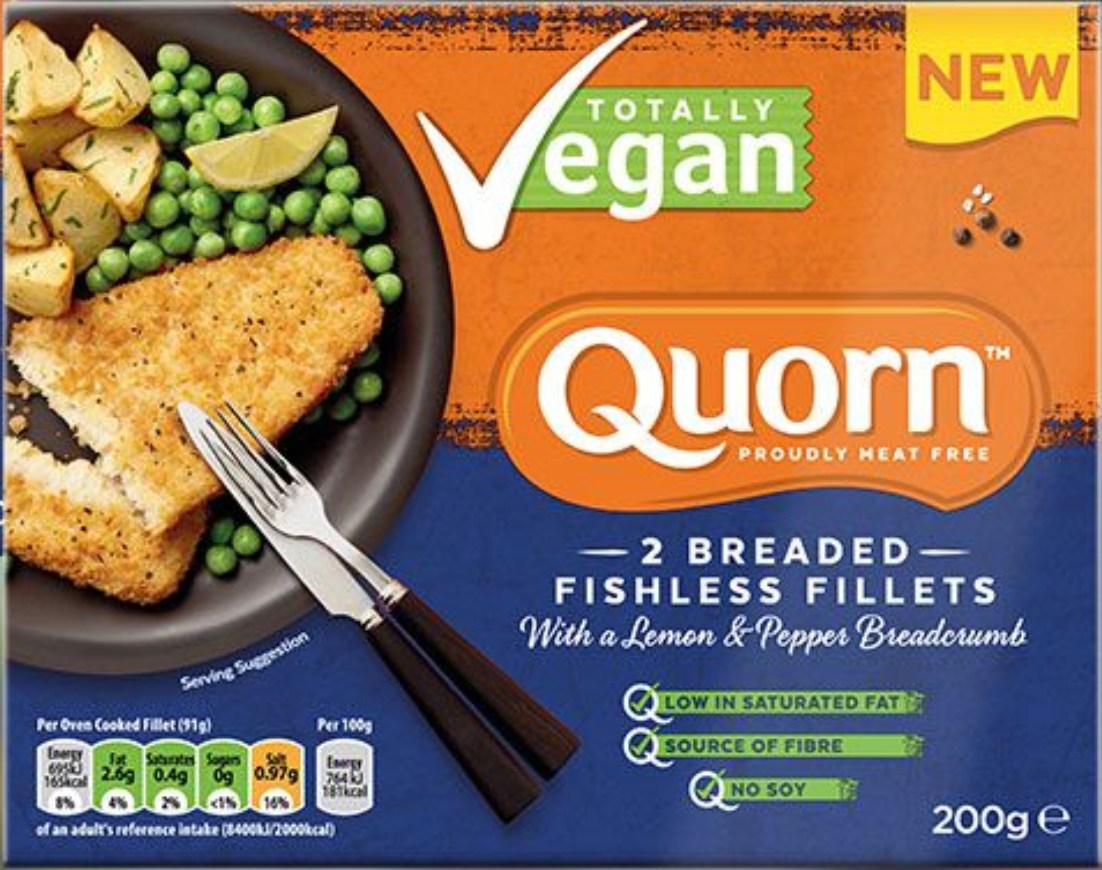 Quorn vegan fish fillets