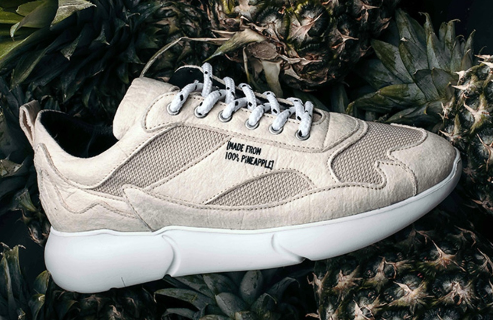 Vegan trainers made from Pinatex