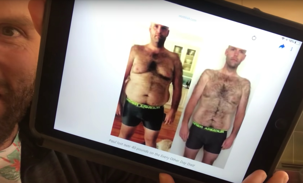 Photos used on weight loss site