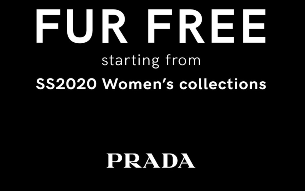 Prada fur free announcement