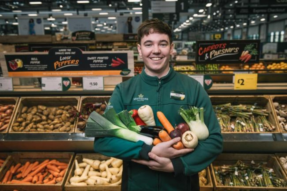 Morrisons fruit and vegetable section