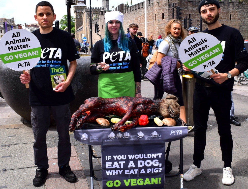 Vegan activist from PETA
