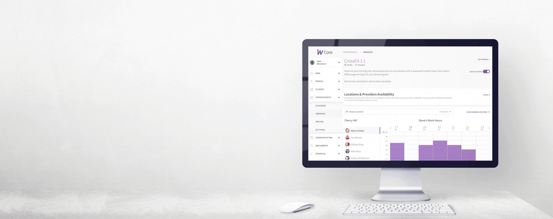 wodify core Desktop screen
