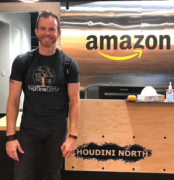 Seth Kniep visiting Amazon's headquarters