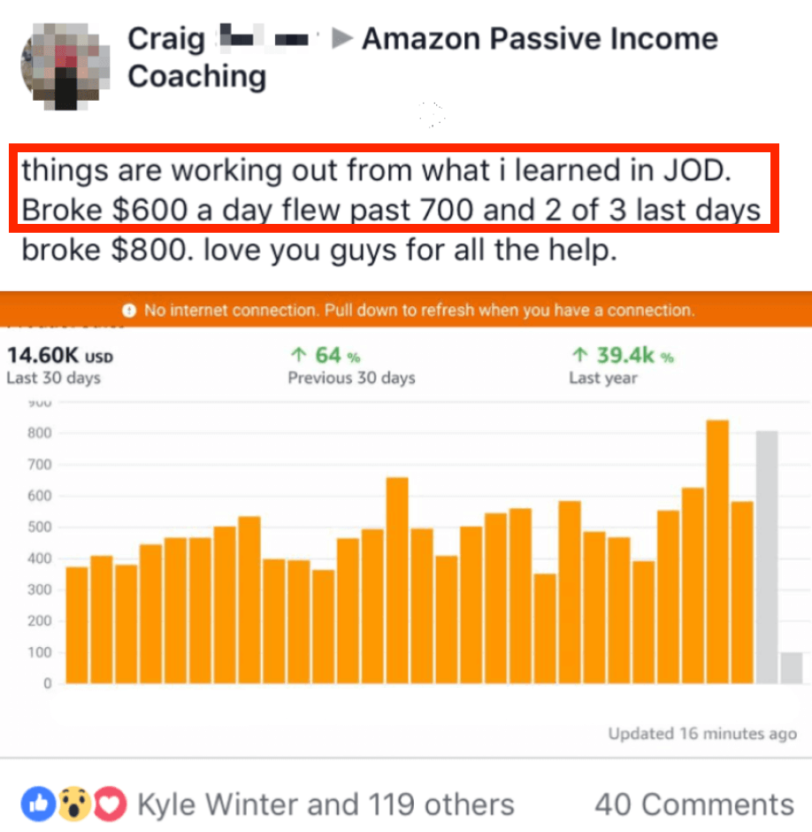 Member makes $14,600 in 30 days