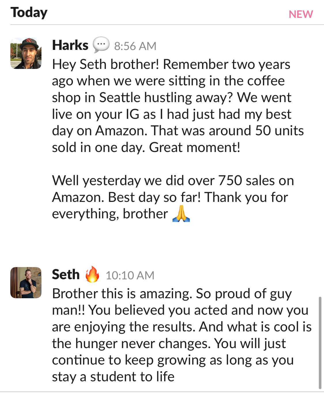 Harks - Went from 50 units per day to 750 in one day