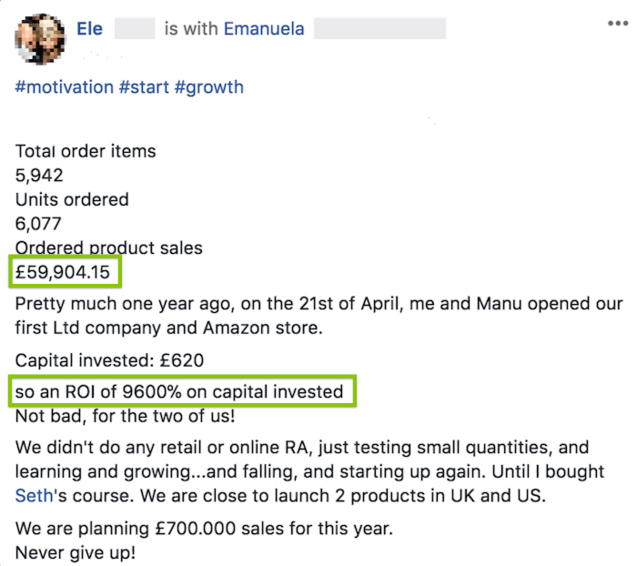 Ele - £59,904.15 in less than a year