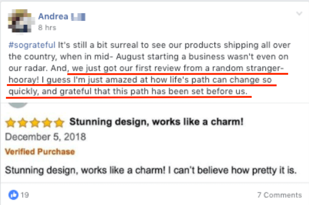 Andrea - So grateful, first organic review