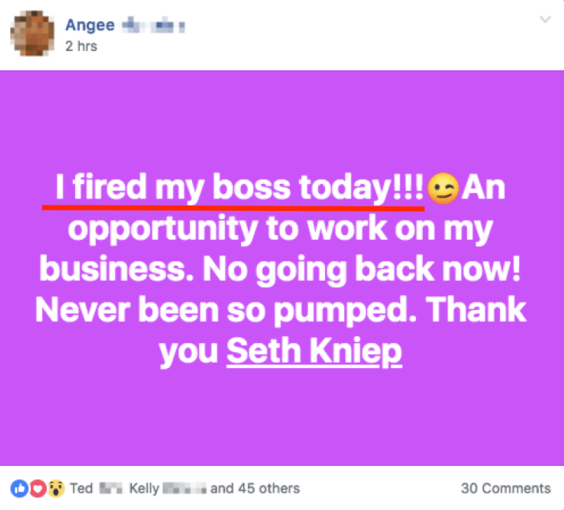 Angee - I fired my boss yesterday!