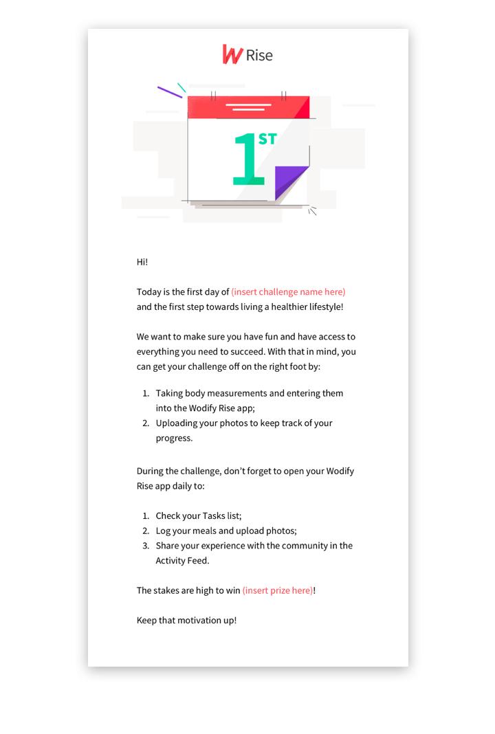 Email #4: Ready, steady, go!