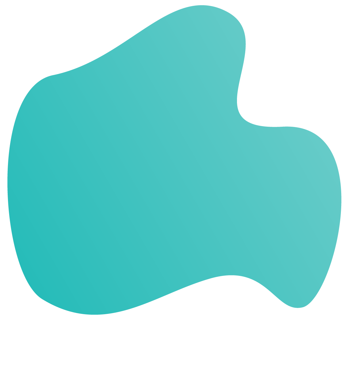 A teal blob image used in backgrounds