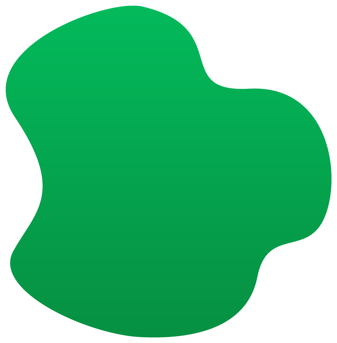 A green blob image used in backgrounds