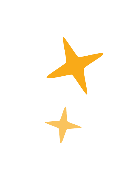 Two yellow stars used as accents