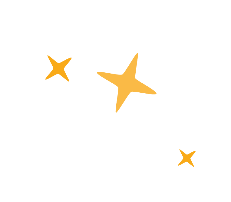 Three yellow stars used as accents