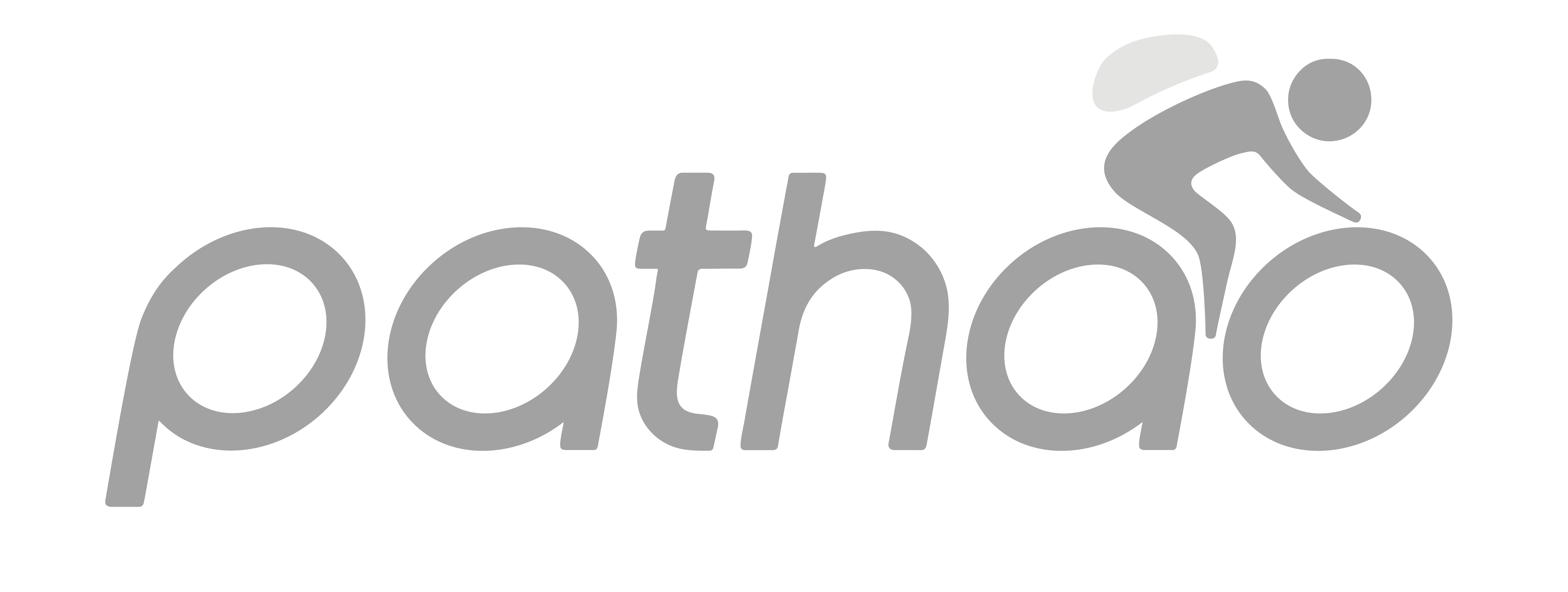 Pathao logo in grey
