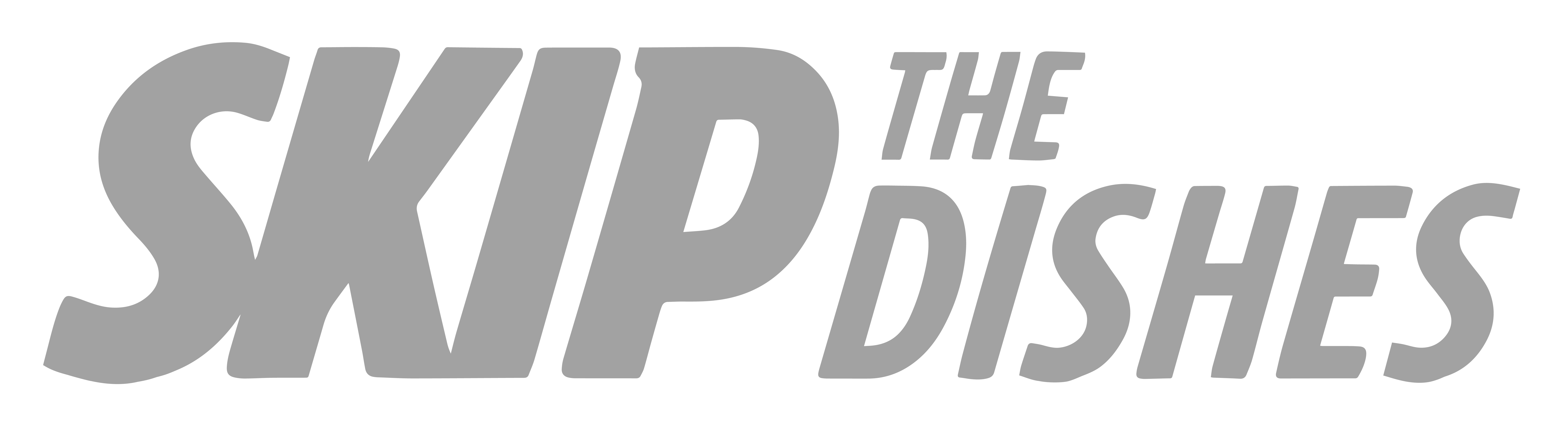 Skip the Dishes logo in grey