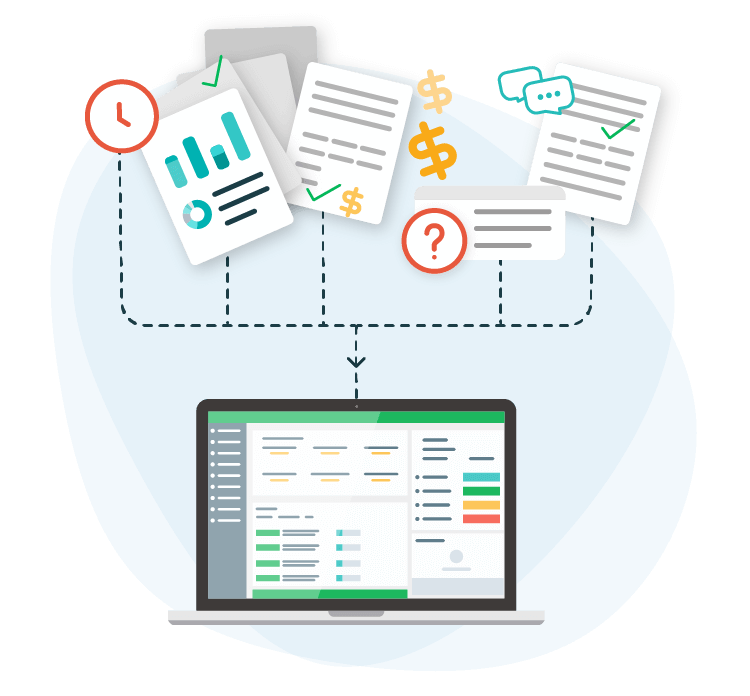 Purchasing workflows with friendly user interface