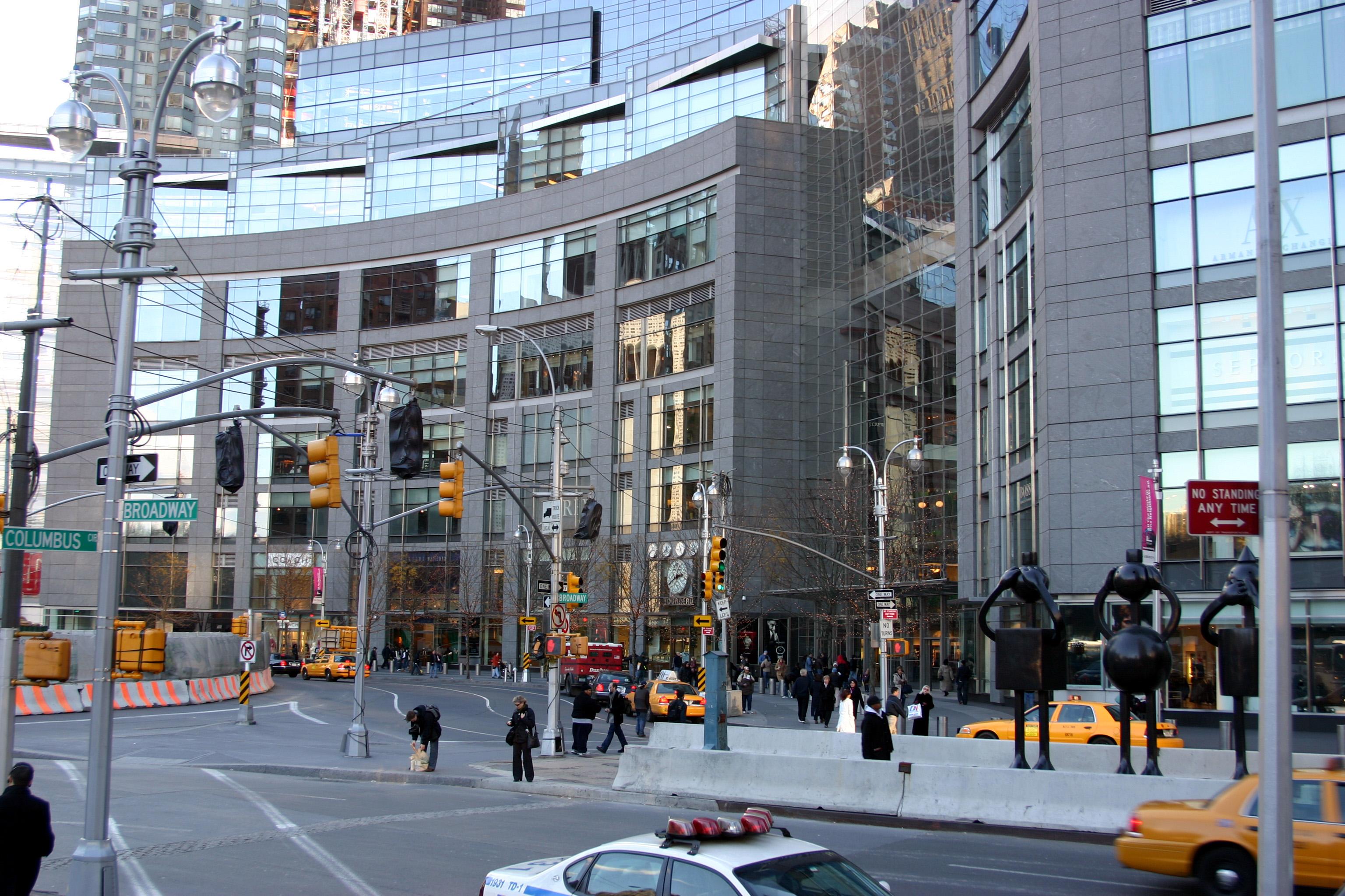 Time Warner Center and Columbus Circle