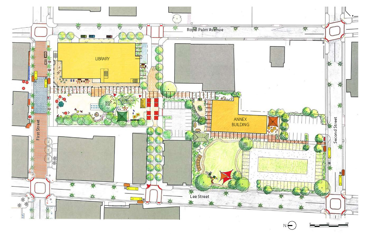 Fort Myers Lee County Library Public Space Master Plan