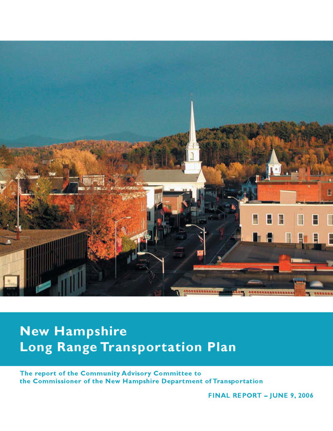 New Hampshire Long Range Transportation Plan