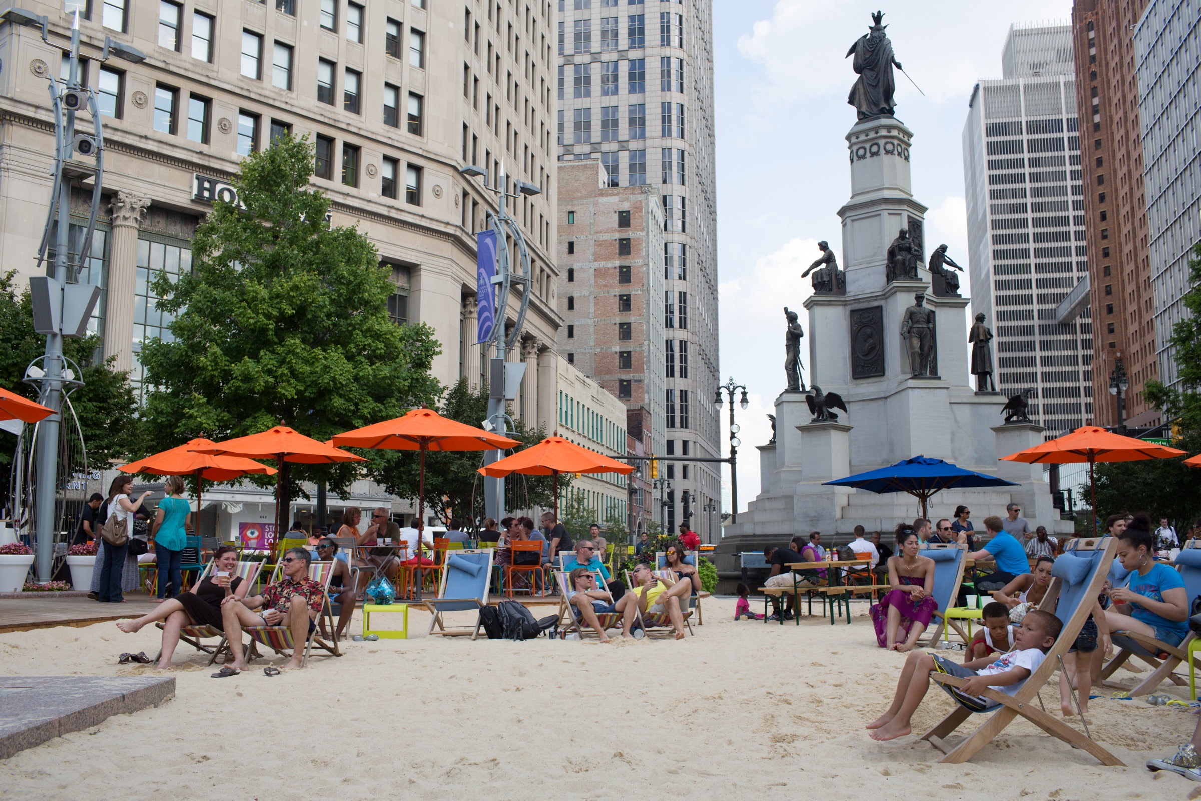 The Beach at Campus Martius Park