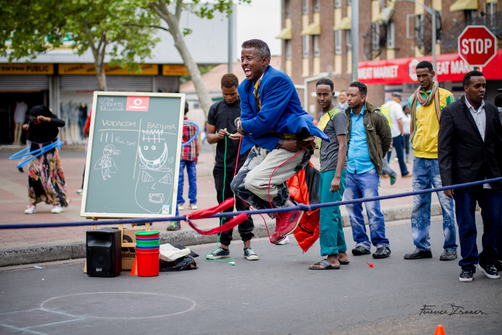 Bellville residents enjoy open streets in Cape Town.
