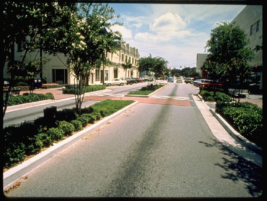 Landscaped median