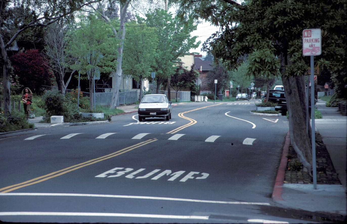 Berkely California speed bump