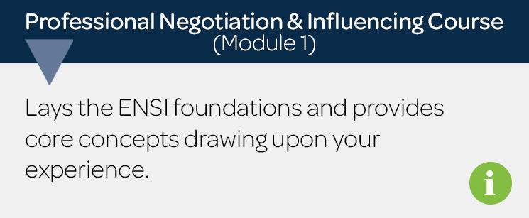Negotiation Skills Training Course | ENS International