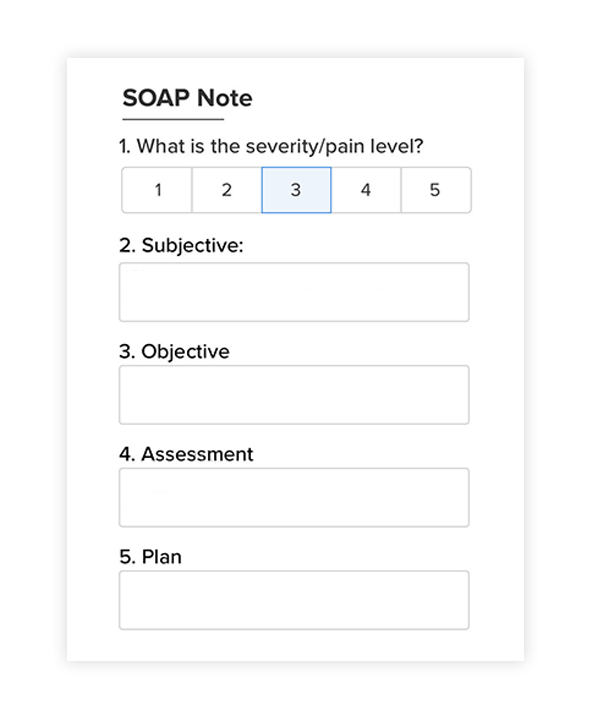 SOAP notes for acupuncturists