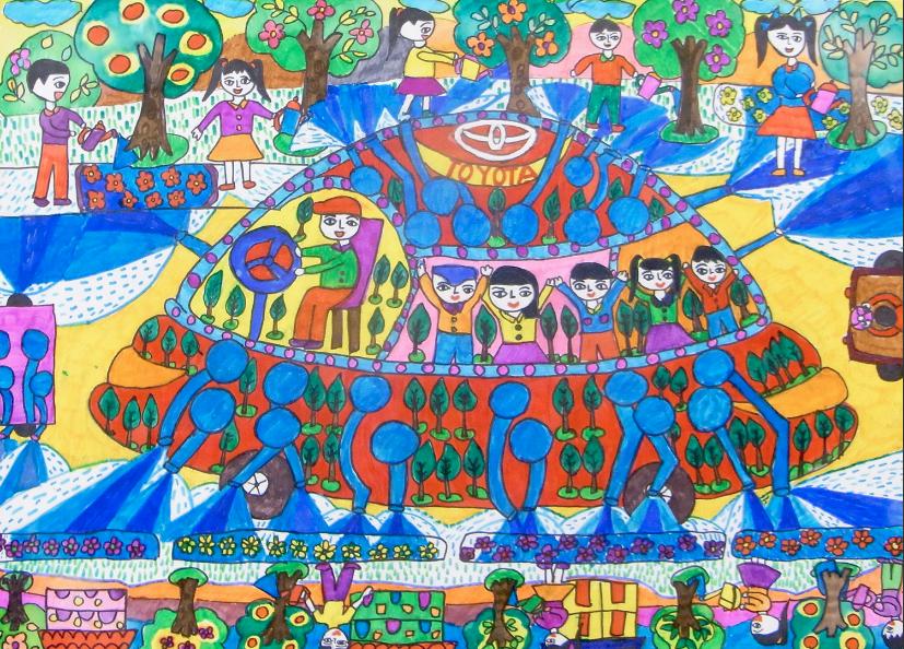 cuộc thi vẽ tranh quốc tế toyota 4