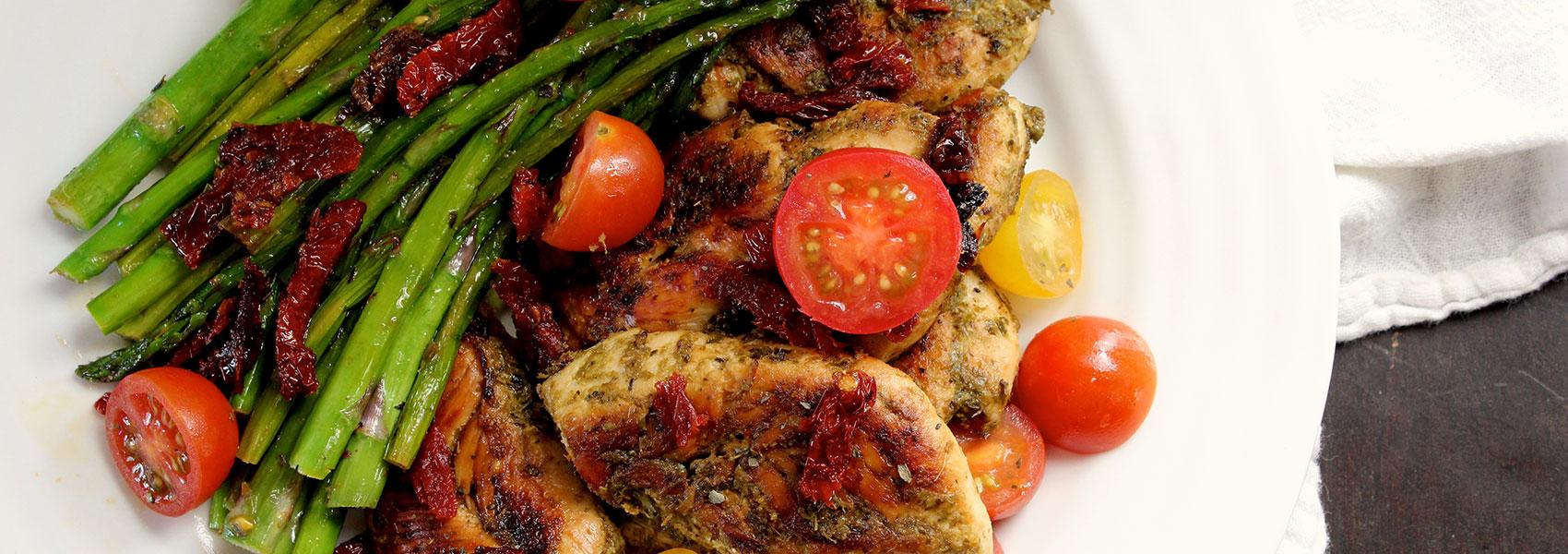 Pesto Chicken and Veggies