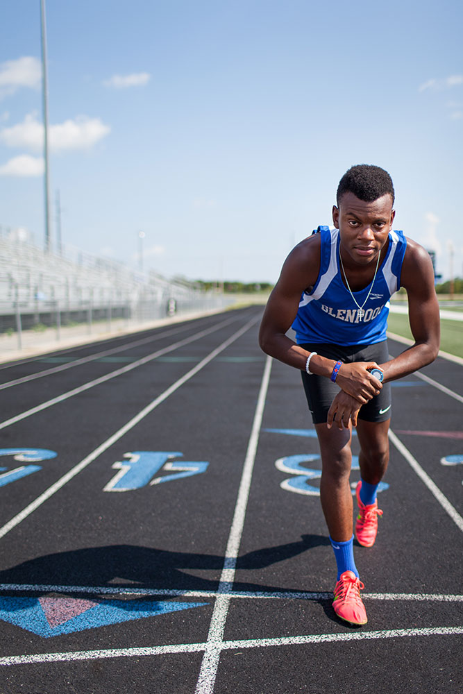 One great way to really communicate the story of who you are at this time in your life is to take your photo on the courts, on the field, track. (Photo: Valerie Grant)