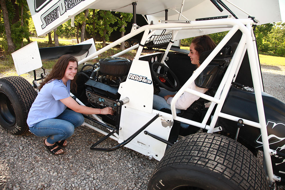 Bailey and Jaiden started driving dirt bikes first, then moved on to four-wheelers, and now micros and sprint cars. (Photo: Marc Rains)
