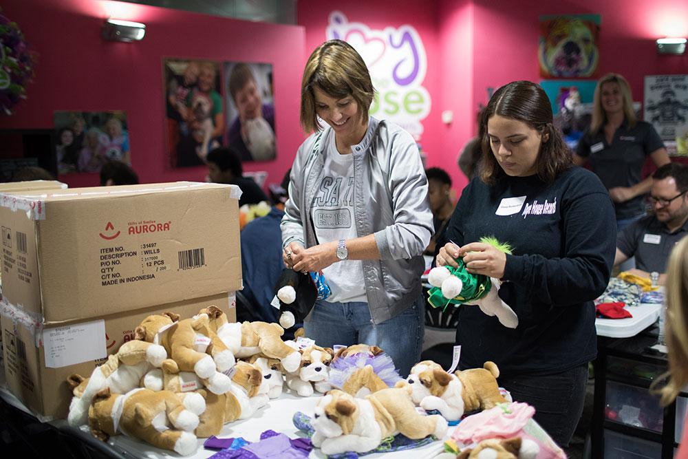 A key element to Joy in the Cause's charitable work involves care packages for those in need, and each package is customized for the specific person's situation. (Photo: Valerie Grant)