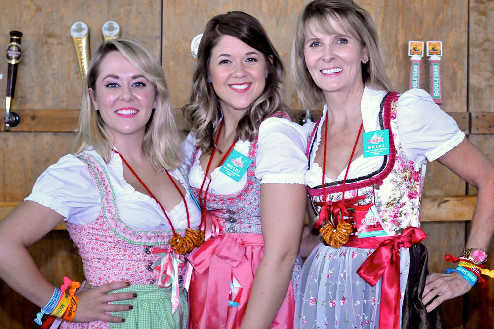 ‍Festival-goers have come to expect the traditional German delicacies like Bavarian cheesecake and craft beers, authentic music and dancing with performers from Germany, and traditional games like Dachshund Dash.