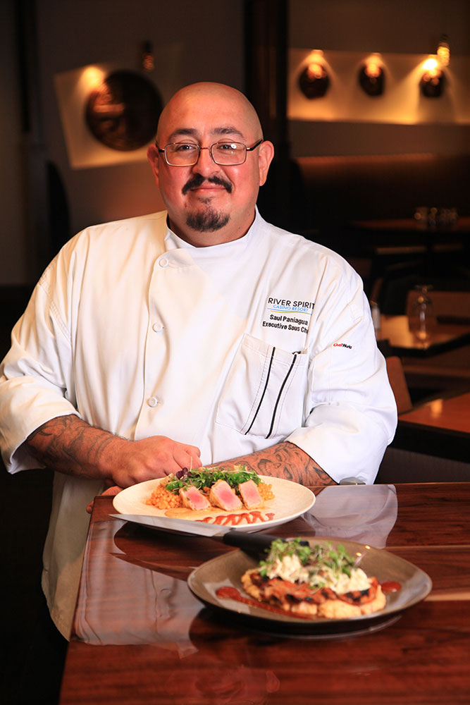Working with chefs from the Philippines, Korea, Mexico and many other nations allowed Paniagua to draw on many more cuisines for his own cooking. (Photo: Marc Rains)