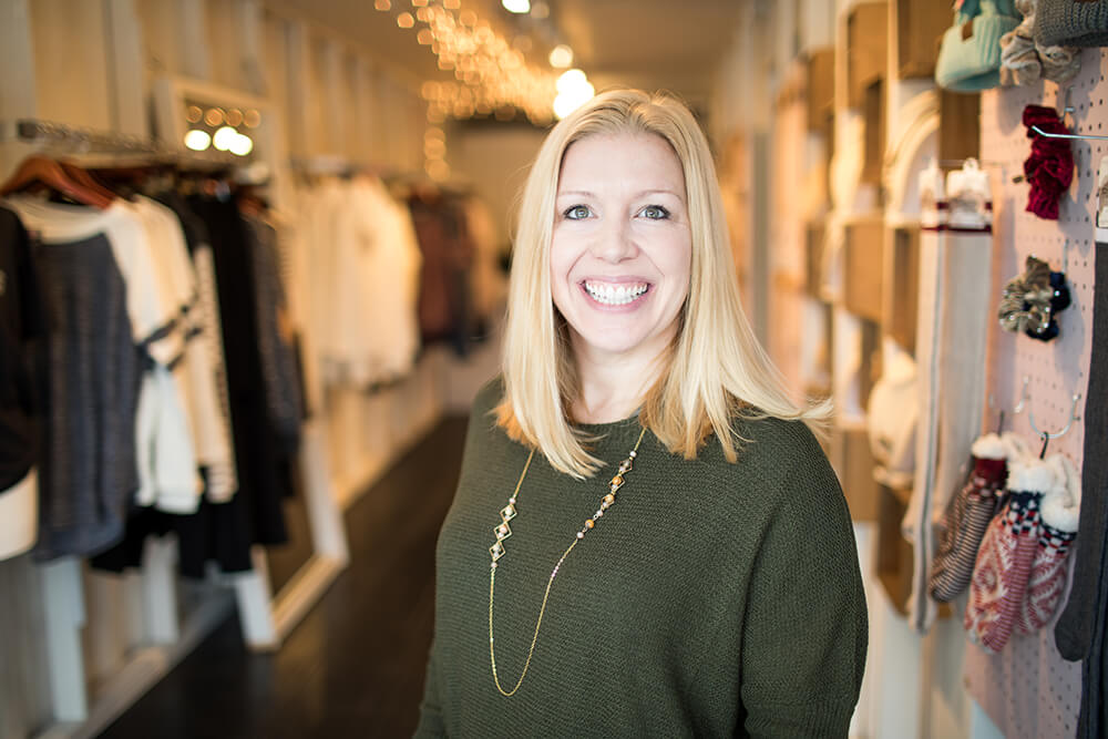Kristine Ellis' Abelina's Boutique stores have a strong reputation in town for being friendly, helpful and inventive, no matter what the customer's needs may be. (Photo: Valerie Grant)