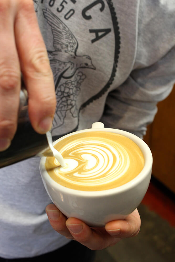 If you're interested in creating your own latte art at home, a Brevel espresso machine or another machine that has 9-10 bars of pressure is needed. (Photo: Chelsi Fisher)