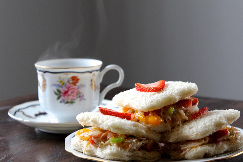 Strawberry Chicken Salad Tea Sandwiches (Photo: Chelsi Fisher)