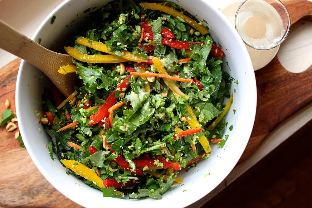 Chopped Thai Salad with Sesame Garlic Dressing (Photo: Chelsi Fisher)